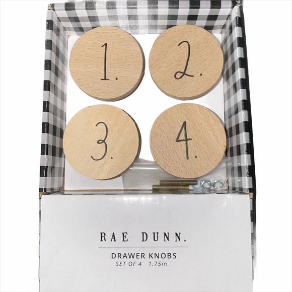 Rae Dunn Drawer Knobs - Set of 4